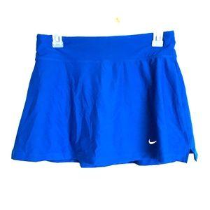 Nike Dri-Fit Royal Blue Tennis Skirt with Shorts
